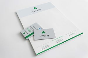 Asperitus logo and corporate stationery