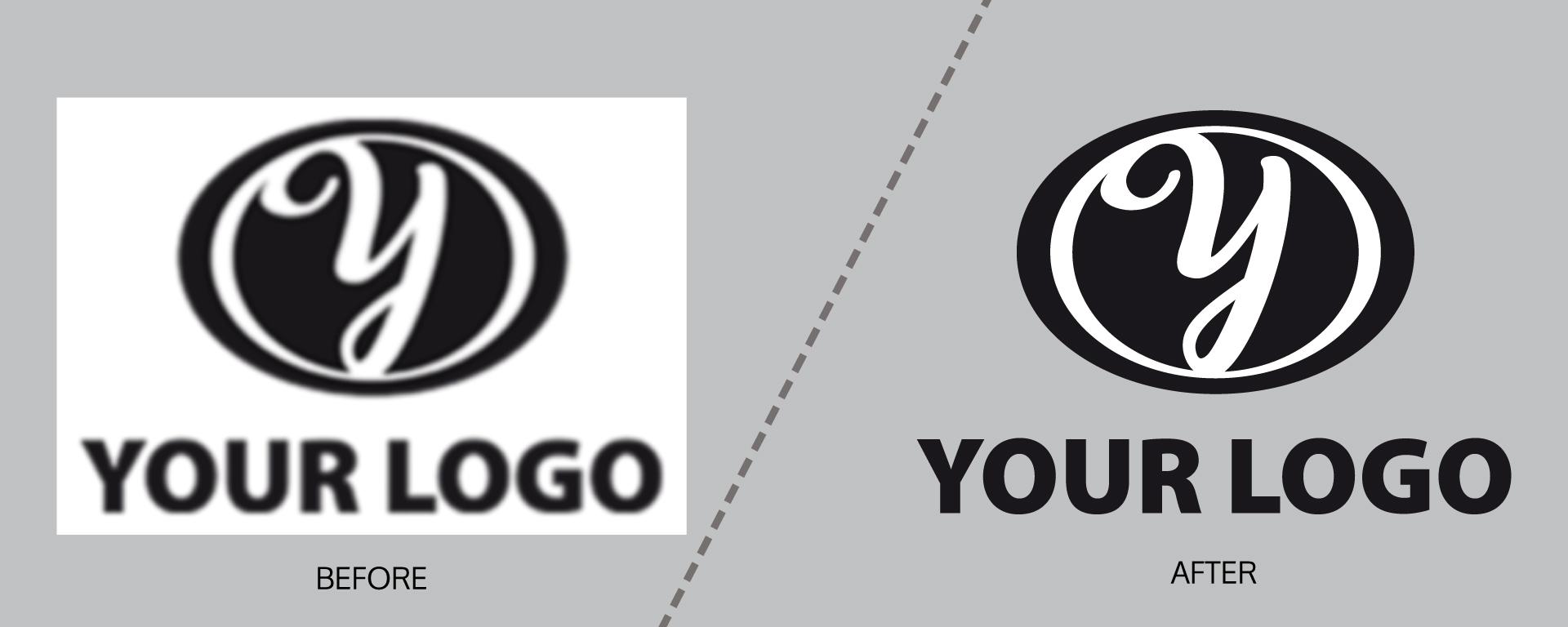 Redrawing of logos