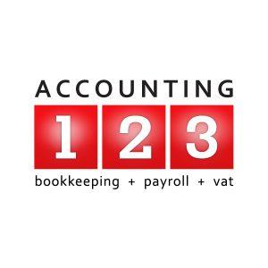 Accounting123 logo design