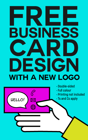 Free business card design with logo design