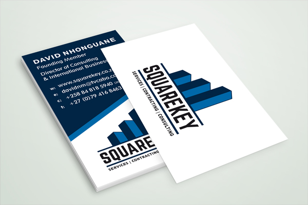 SquareKey logo and business card design