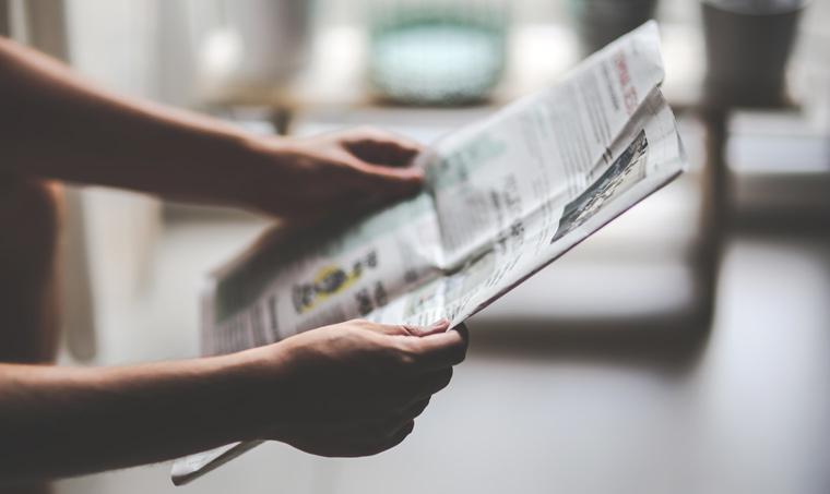 Newspaper and magazine adverts