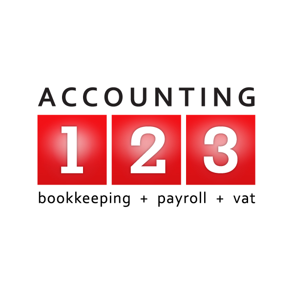 Accounting123 logo design
