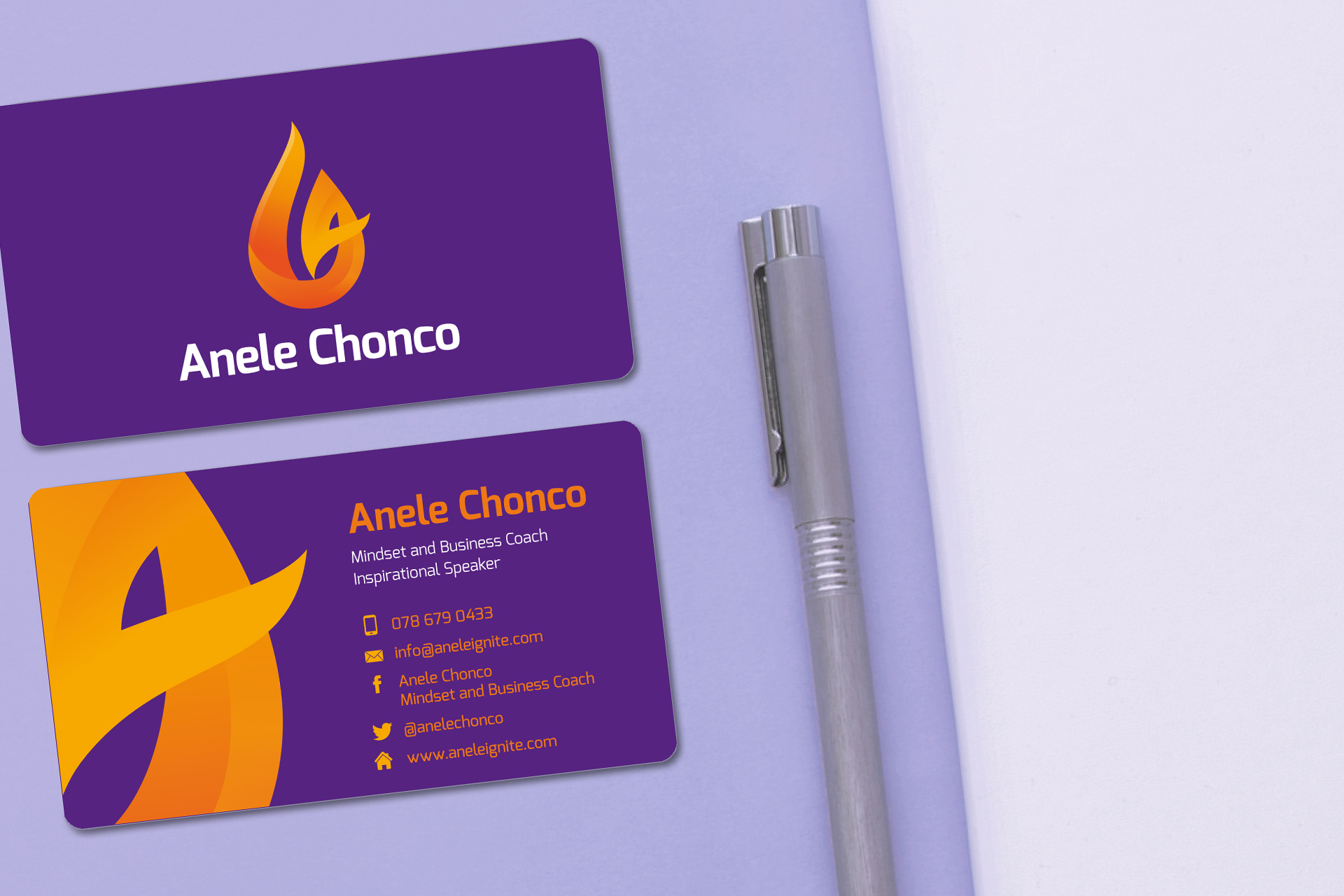 Anele Logo and Business Card