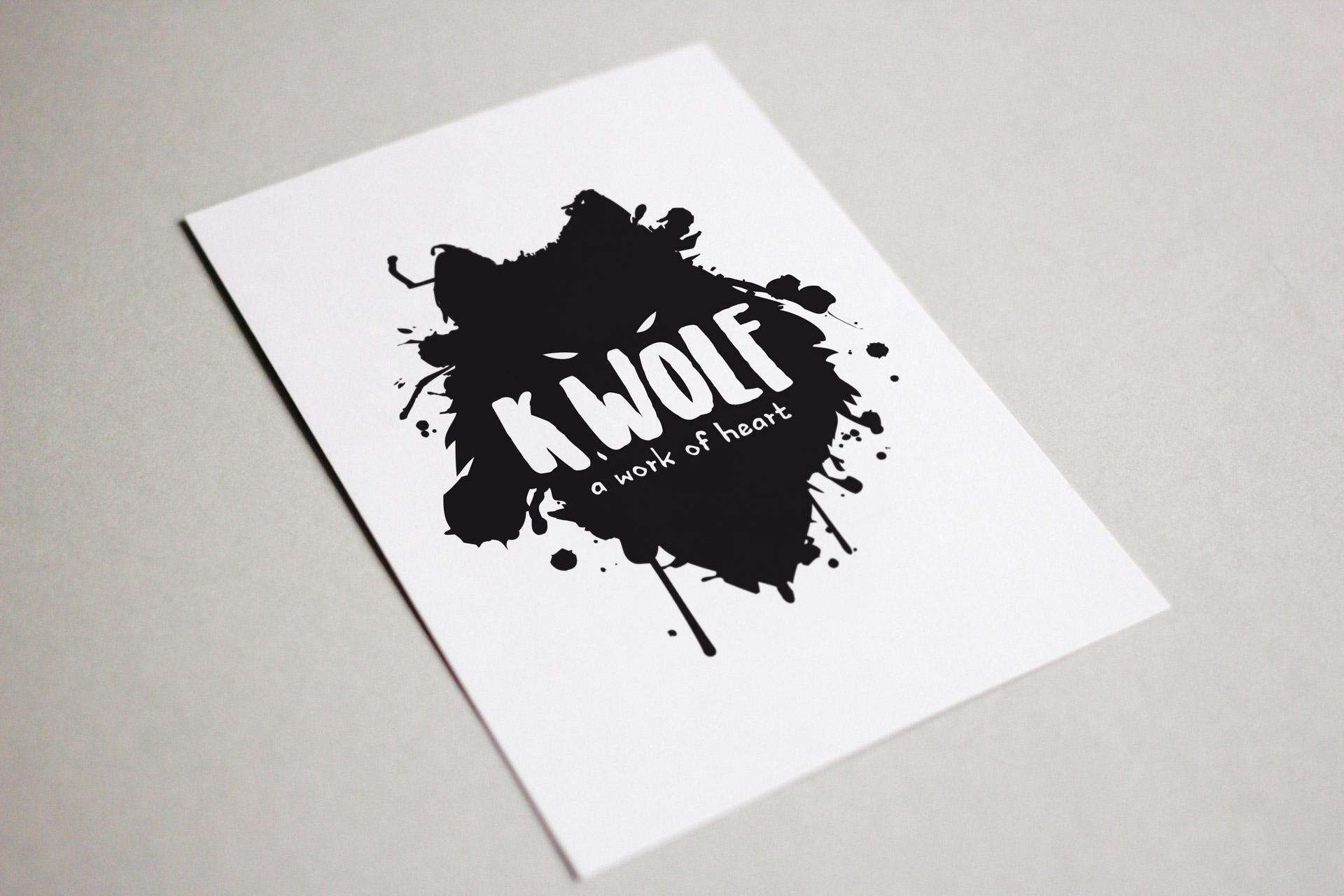 K Wolf logo design