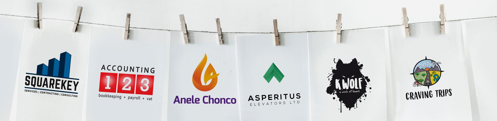 Hanging logos