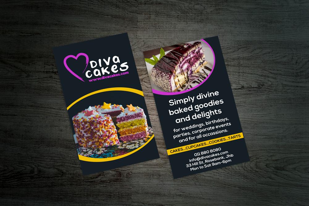 Leaflet business card design