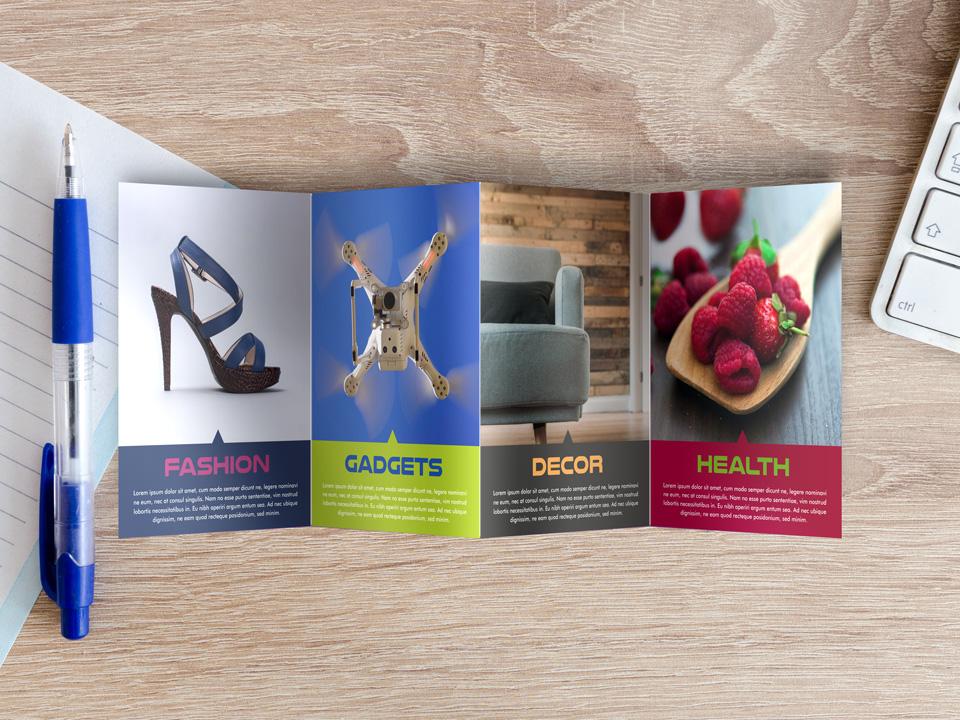 Pocket brochures and mini catalogues