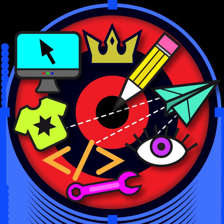 Graphic design and web design icon